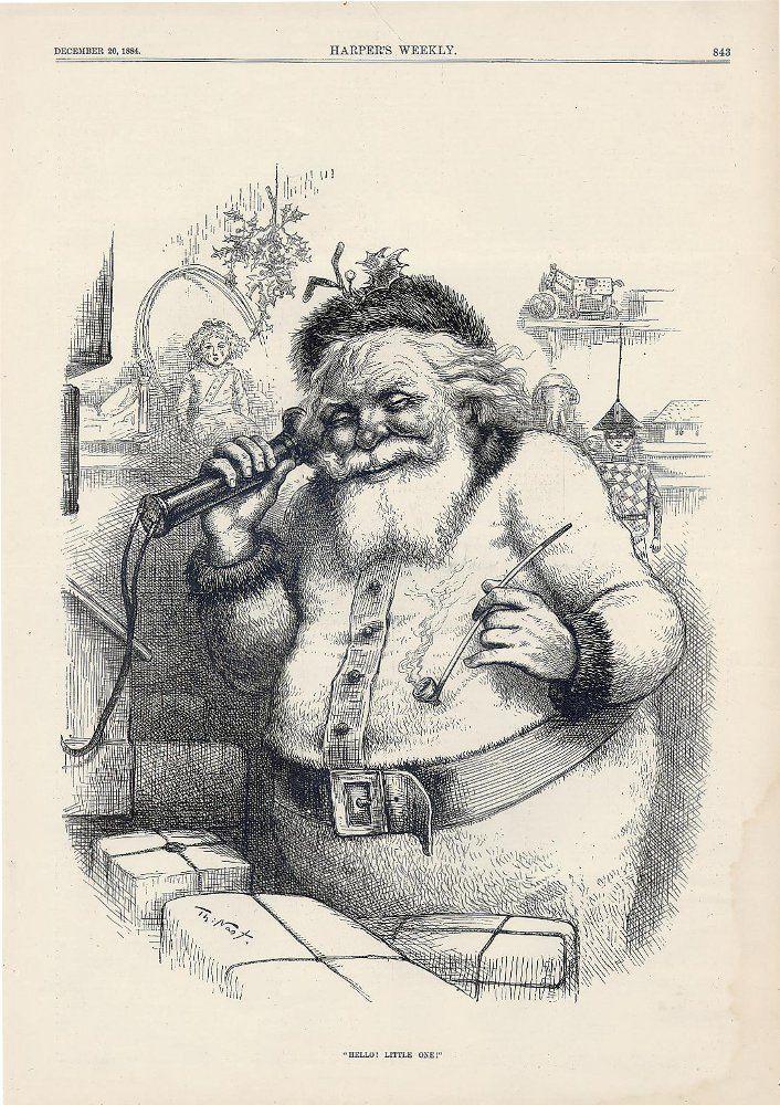 """Képtalálat a következőre: """"Thomas Nast santa claus Harper's Weekly 1861"""""""