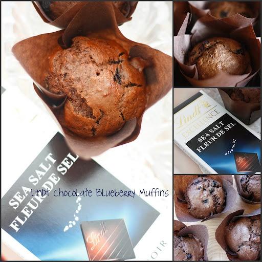 lindt sea salt chocolate blueberry muffins
