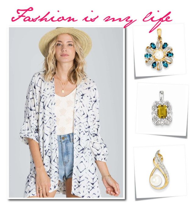 """Fashion"" by goldia ❤ liked on Polyvore featuring Billabong, jewelry, summerdate and summertropical"