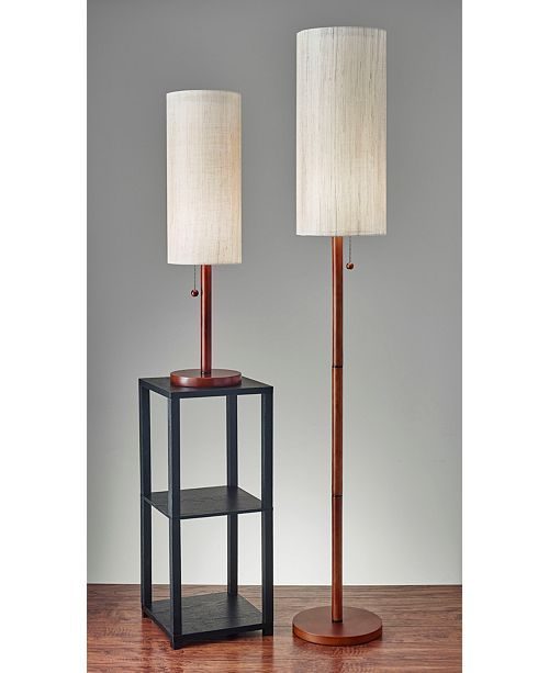 Adesso Hamptons Floor Lamp Brown A 1116 Maine The