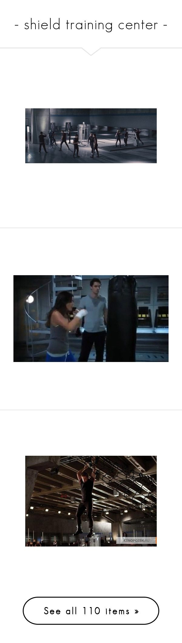"""- shield training center -"" by fangirl-fashion-01 ❤ liked on Polyvore featuring hunger games, idania- eldridge, the hunger games, agents of shield, marvel, movie, pictures, training, hg and photo"