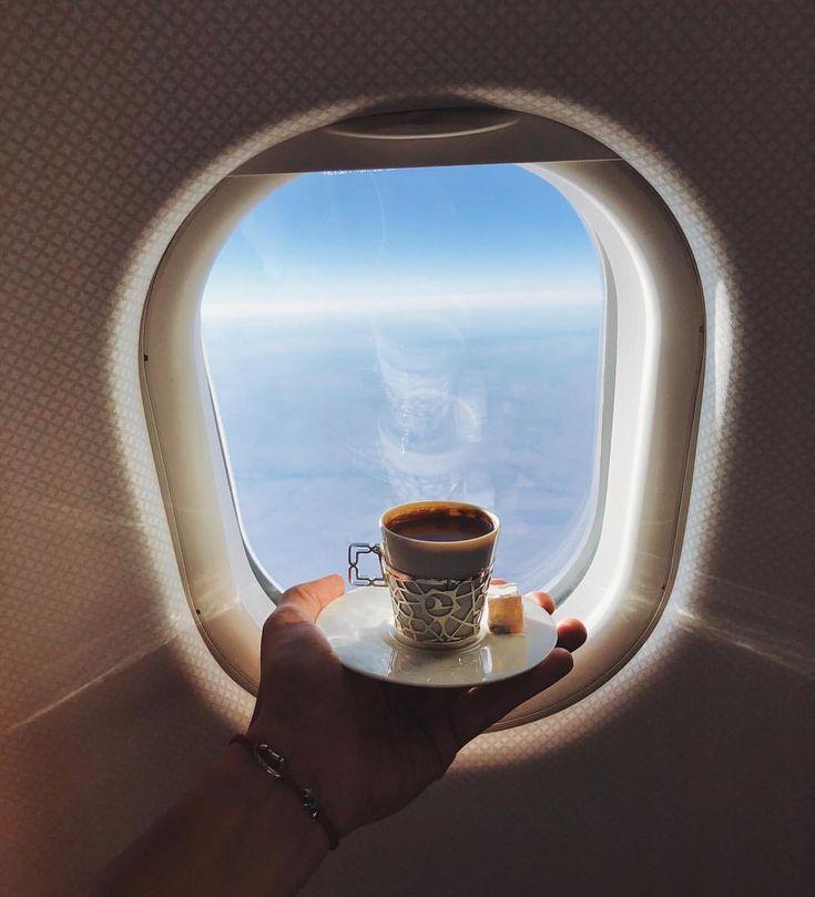 Юбилеем, открытки самолет и кофе