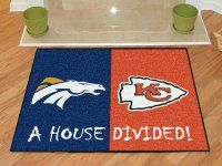 Broncos-Chiefs House Divided Welcome Mat. $39.99 Only.