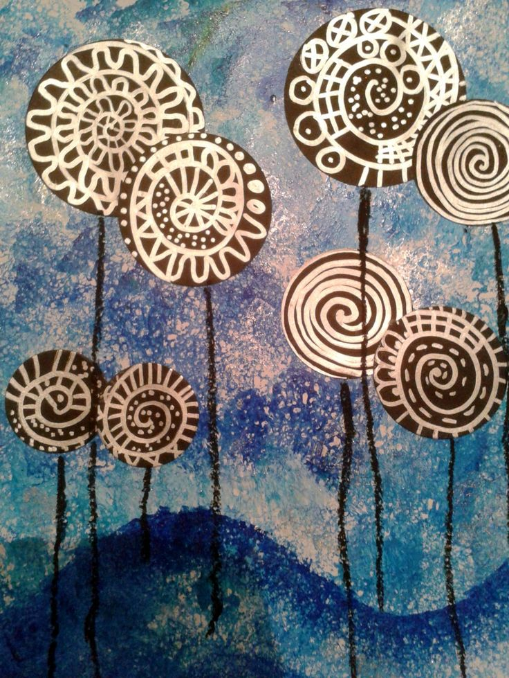 Lollipop trees à la Hundertwasser.