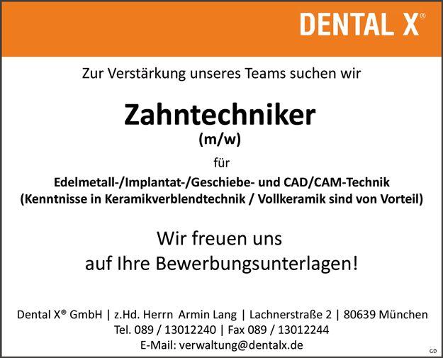 Stellenbezeichnung: Zahntechniker m/w  Arbeitsort: 80639 München Bayern, Deutschland  Weitere Informationen unter: http://stellencompass.de/anzeige/?id=139364