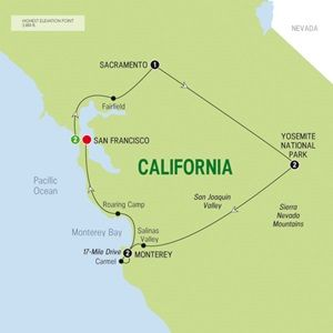 Map of California Dreamin - Summer 2015