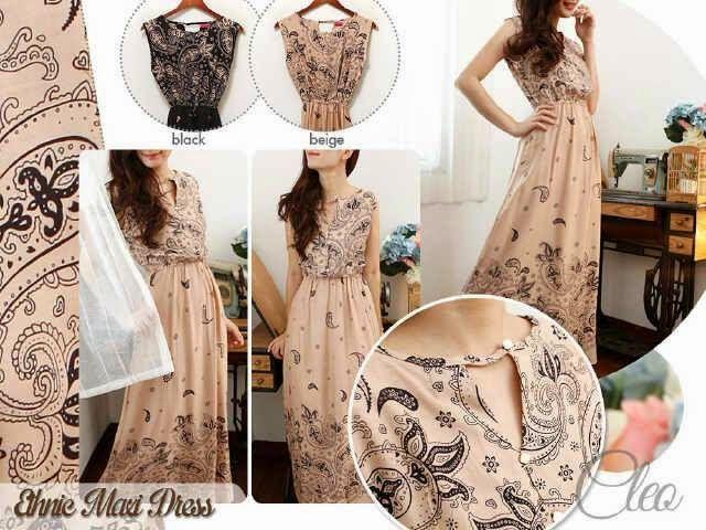 Ginbers Butik: Dress - ETHNIC PAISLEY MAXI DRESS