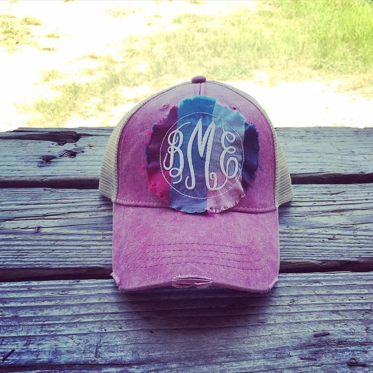 We love this patch on the vintage trucker hat!!❤️ $21 #monogrammit #monograms #vintage #truckerhats