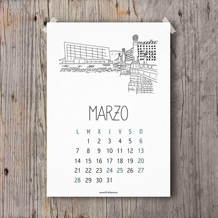 Calendario Marzo 2016 descargable gratis