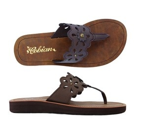 Cobian Sandals Women's Las Flores Chocolate Sandals Flip Flops