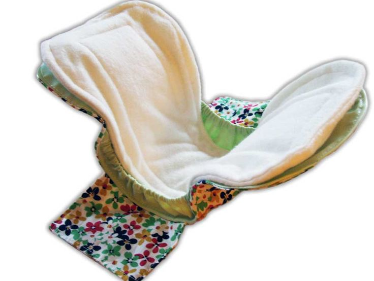 Postpartum pad pattern (shell, insert & overnight pad) with gussets - Go Green by using reusable cloth! Great gift idea for new or expecting moms!