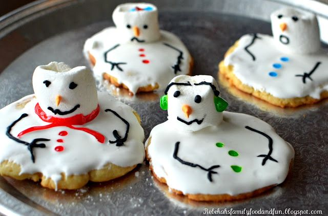 Melting Snowman Cookies.  It would be fun to make this as a cake.