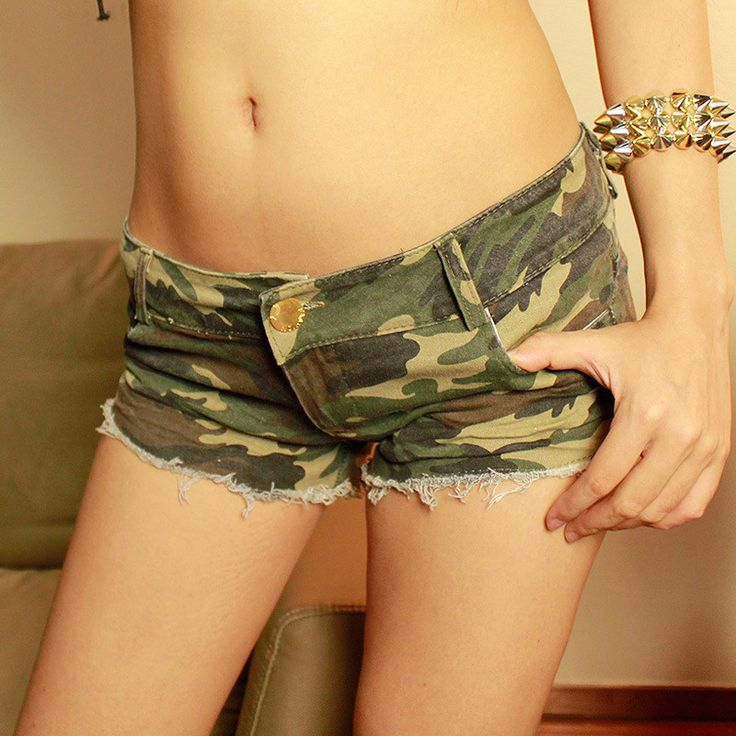 Pantalones Cortos Mujer 2016 New Hot Sale Sexy Womens Summer Style Camouflage Short Feminino Women Denim Shorts Low Waist