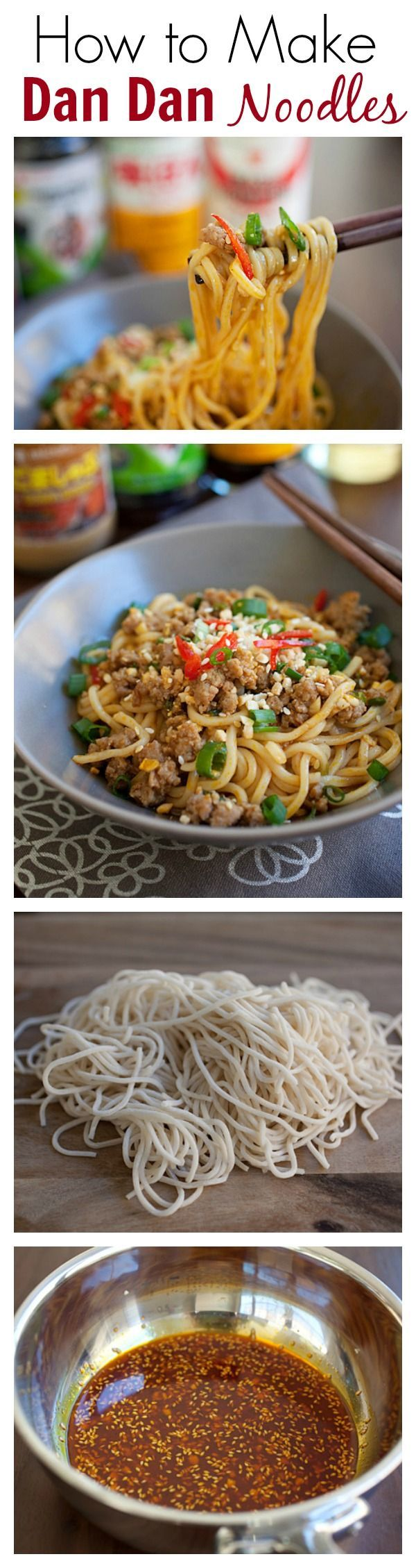 How to Make Sichuan Dan Dan Noodles by rasamalaysia: Super delicious - spicy, sour and savory.