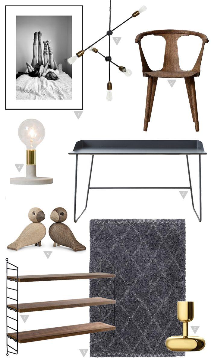 Chic home office, stylizimo shop, interior shop, elegant workspace