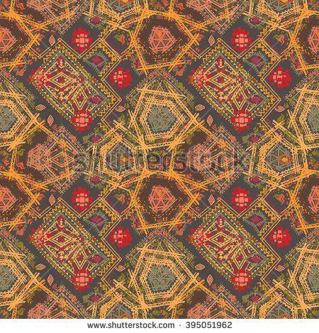Özet etnik seamless pattern.  Tribal sanat bohem baskı, elle çizilmiş süsleme.  Arka plan doku, duvar kağıdı, sarma
