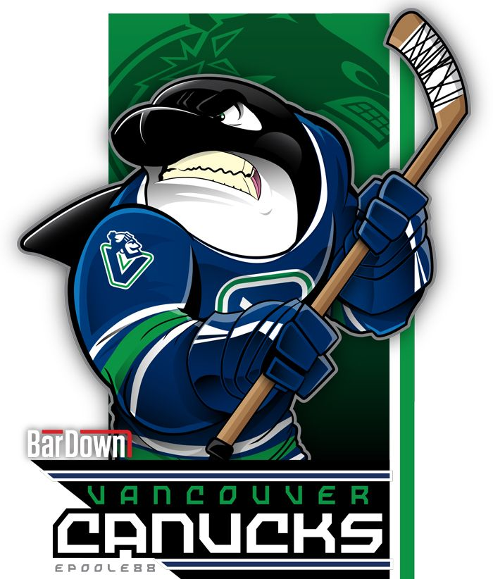 Our good friend #EPoole88 (Eric Poole) is getting ready for the upcoming season with cartoon renderings of each team. This is the Vancouver Canucks. #TSN #BarDown