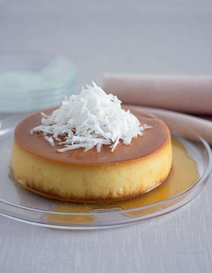 Crème caramel al cocco