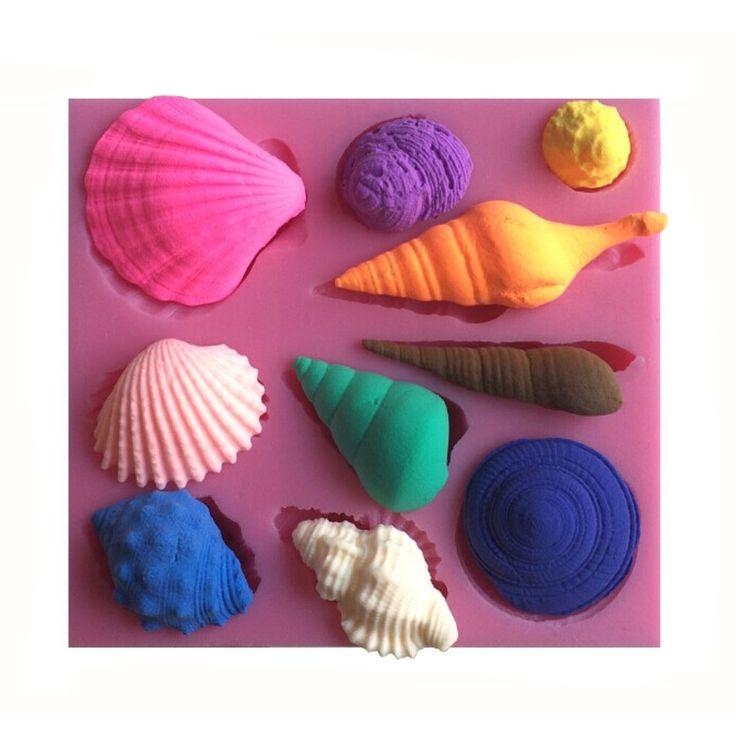 Amazon.de: Karen Baking Schöne Sea Shell und Conch-Form 3D Silikon Backform für Kuchen-Fondant Dekorieren