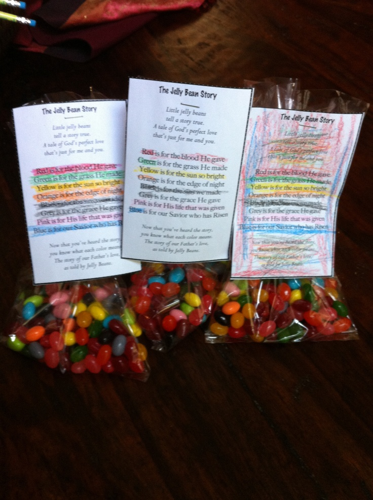 Easter Story As Told By Jelly Beans Easter Pinterest