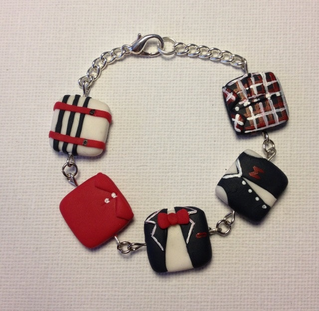 One Direction iconic outfit bracelet. $27.95, via Etsy.