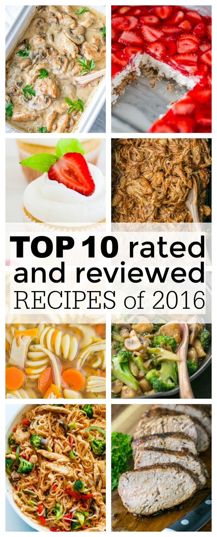 Top 10 Recipes of 2016. Fail proof, best recipes you'll make over and over! That's exactly what this is - most popular, best reviewed, reader favorites!