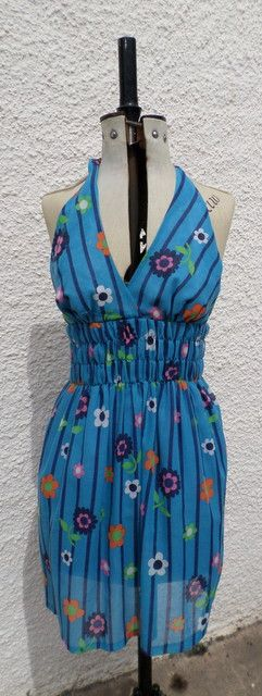Fab 7os flower halterneck sundress - http://whatkatydid.biz/product/vintage-clothing-and-accessories/fab-7os-flower-halterneck-sundress/