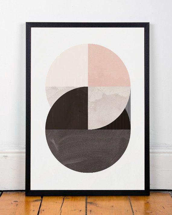 Abstract wall art, Geometric wall print, Modern wall art, Texture print, Home decor art, Minimalist art, Mid century modern, Printed art