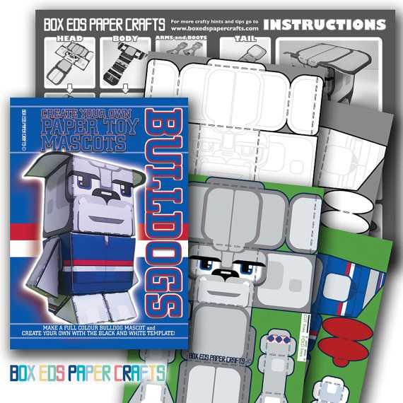 DIY craft kit. Make your own Western Bulldogs by BoxEdsPaperCrafts