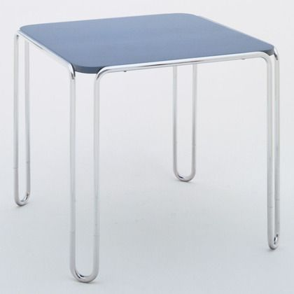 Marcel Breuer (1902-1981). Table Model No. B10. 1927 Manufactured by Gebruder Thonet, Austria Chrome-plated tubular steel and wood