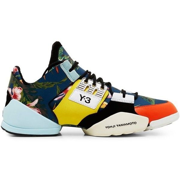 Y-3 Women's Printed Kanja Low Top Sneaker (36445 RSD) ❤ liked on Polyvore featuring shoes, sneakers, low profile shoes, low top, y3 trainers, low profile sneakers and y3 sneakers