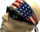 BANDANA, 4th Headband 4th july, American flag, Motorcycle helmet bandana,Built in sweatband head band,Bandana , Handmade, Gardening headband