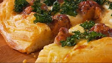 """""""Meatball Madness"""" - Pizza Bianca with Kale and Meatballs ingredients Sauce 2"""