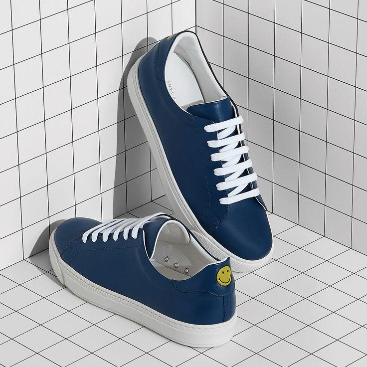 Anya Hindmarch Men's Smiley Sneakers