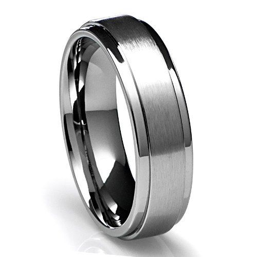 Stunning Mens K White Gold Wedding Band Ring MM Wide Sizes Free Engraving New