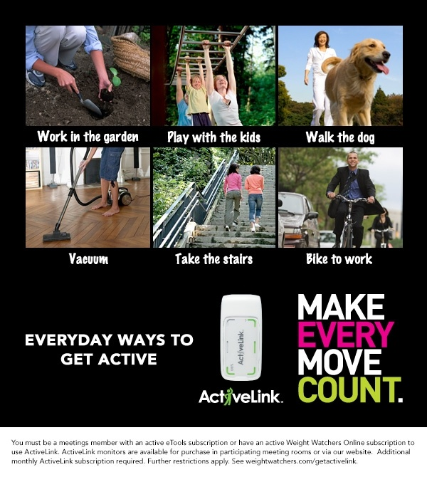 Our ActiveLink device helps you keep track of the Activity PointsPlus values you earn for everyday activities! #WWLoves