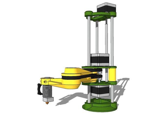 Scara robotic arm by Idegraaf - Thingiverse