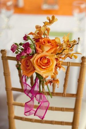 orange and pink  www.tablescapesbydesign.com https://www.facebook.com/pages/Tablescapes-By-Design/129811416695