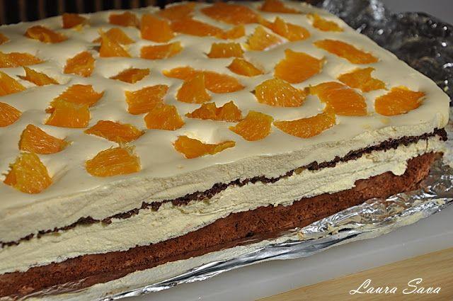 Prajitura Diplomat cu portocale si ciocolata | Retete culinare cu Laura Sava - Cele mai bune retete pentru intreaga familie