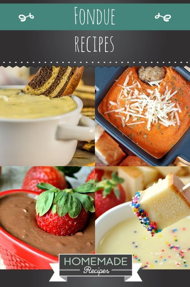 10 Classy Fondue Recipes and Dipping Ideas for New Years Eve Parties | https://homemaderecipes.com/new-years-eve-fondue-recipes/
