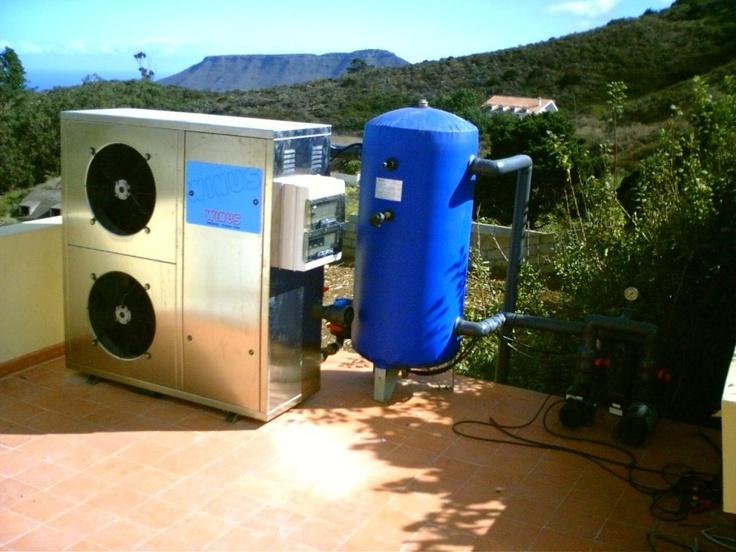 Winus 20 con depósito pulmón y equipo de bombeo en Bodegas Marba (Tenerife)