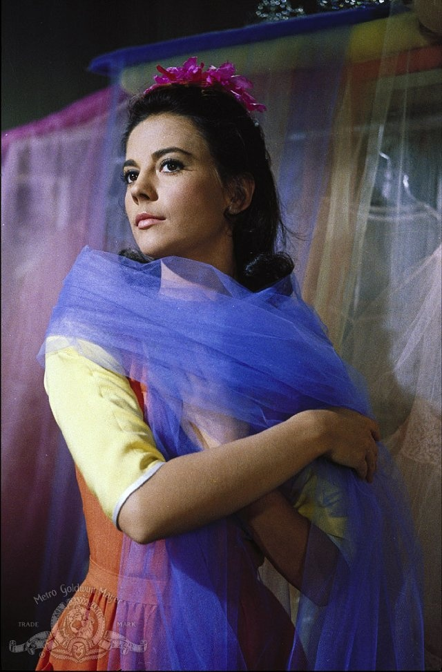 """Natalie Wood as Maria, West side story. This looks like it's during """"I feel pretty"""". Cuuuute!"""