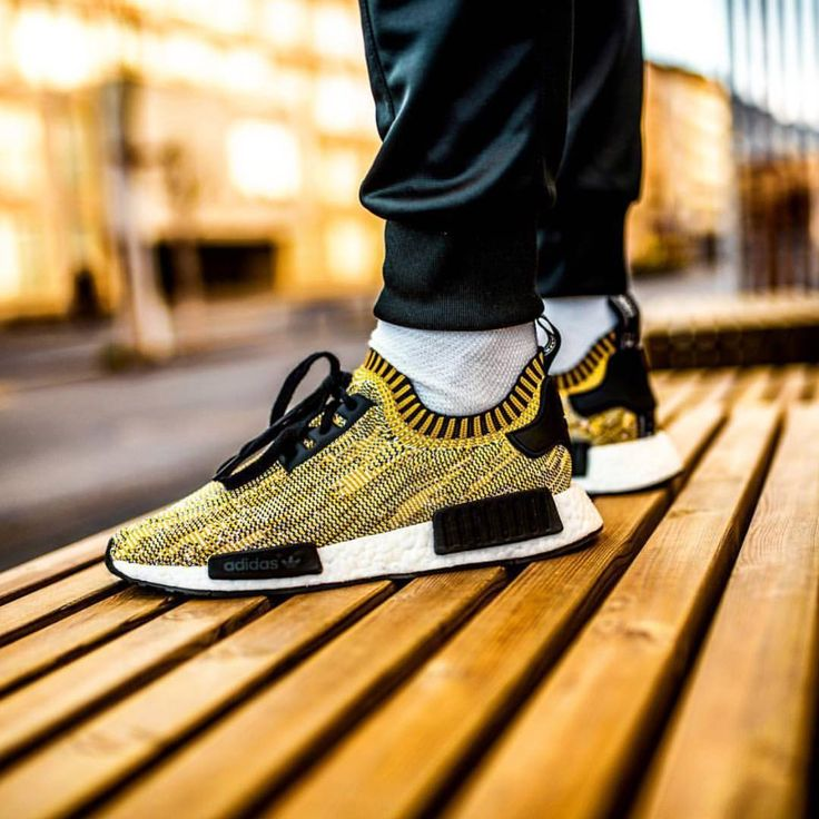 Adidas Nmd Yellow On Feet