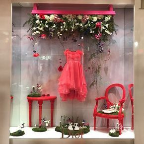 "BABY DIOR, at Galeries Lafayette, Paris, France,""I look outside and what do I see?, I see SPRING looking back at me!"", pinned by Ton van der Veer"