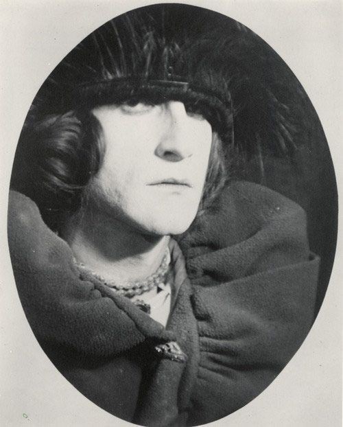 Marcel Duchamp's alter ego Rrose Sélavy, photographed by Man Ray, 1921.