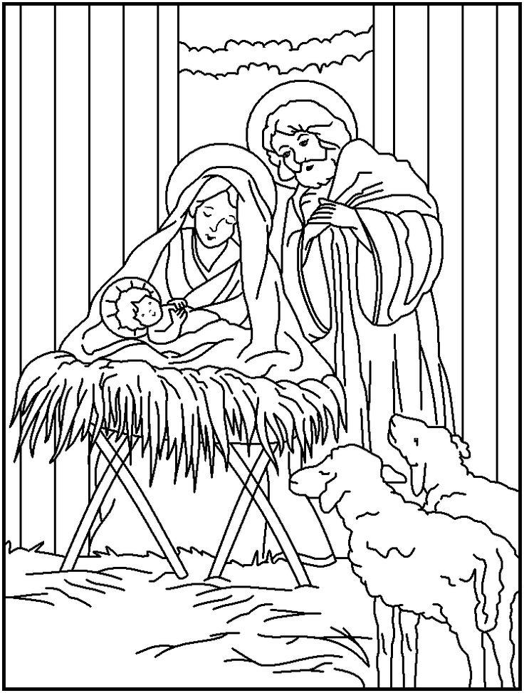 Printable Religious Christmas Coloring