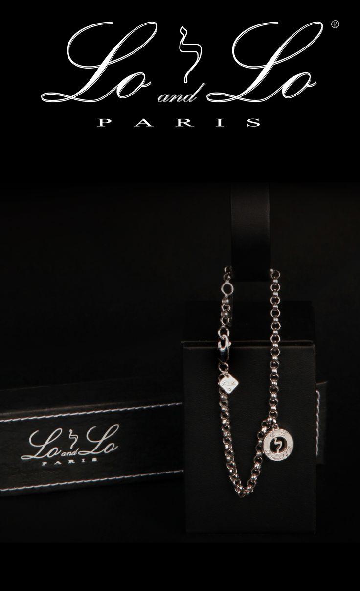 Lo and Lo Origine Simplicity, un bracelet en argent massif rhodié pour Elle et pour Lui