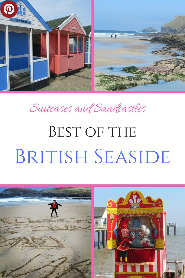 Best of the British Seaside. Want to know the best UK beaches? From colourful beach huts, fish and chips to stunning sandy beaches, these are the best beaches in England, Wales and Scotland. I've asked #familytravel bloggers to describe their favourites. #familytraveluk #bestukbeaches #bestbritishseaside