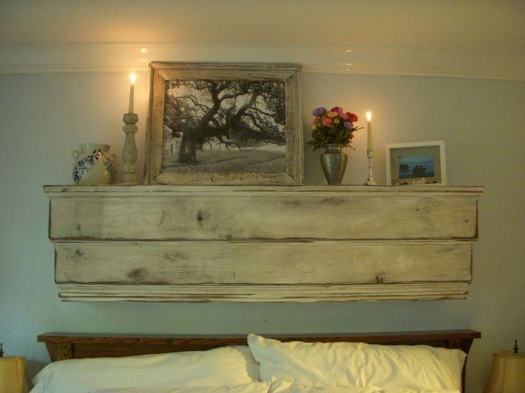 Distressed furniture wall shelf ledge wood shabby for Mobili wooden art