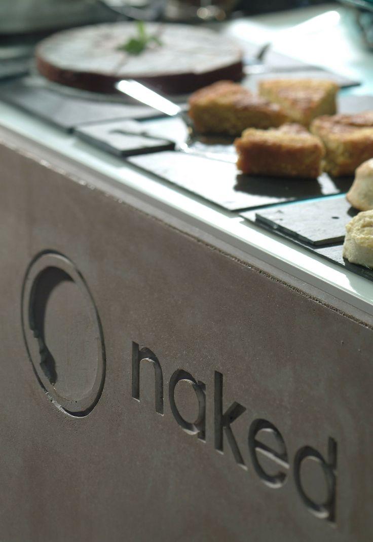Concrete bar counter - Naked Restaurants